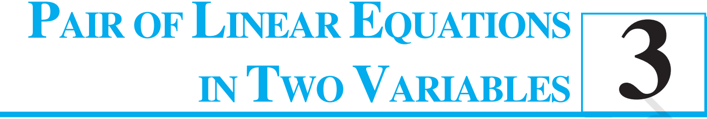 3 Pairs of linear equations in two variables class 10 maths