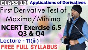 Lecture 11 Applications of Derivatives Class 12 2