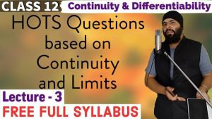 Continuity and Differentiability Lecture 3