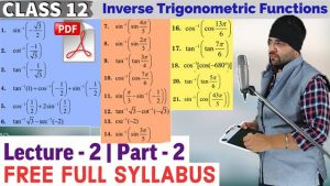 2. Inverse Trigonometric Functions 3