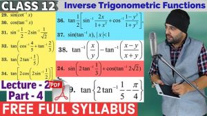 2. Inverse Trigonometric Functions 5