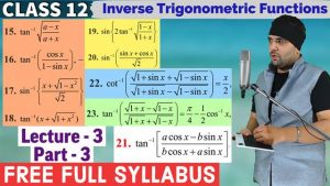 2. Inverse Trigonometric Functions 8