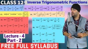 2. Inverse Trigonometric Functions 10