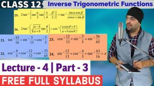 2. Inverse Trigonometric Functions 11