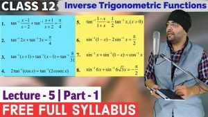 2. Inverse Trigonometric Functions 12