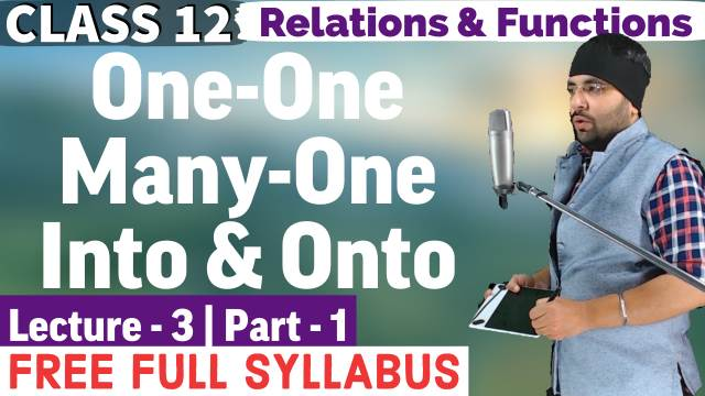 Relations and Functions Lecture 3 (Part 1)