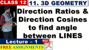 11 Three Dimensional Geometry Lecture 1