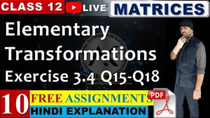 Matrices Lecture 10