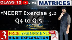 Matrices Lecture 3