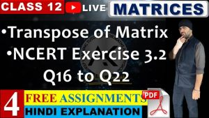 Matrices Lecture 4