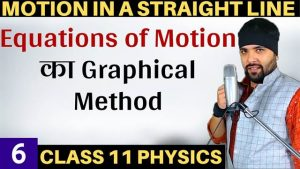 Motion in a Straight Line Lecture 6