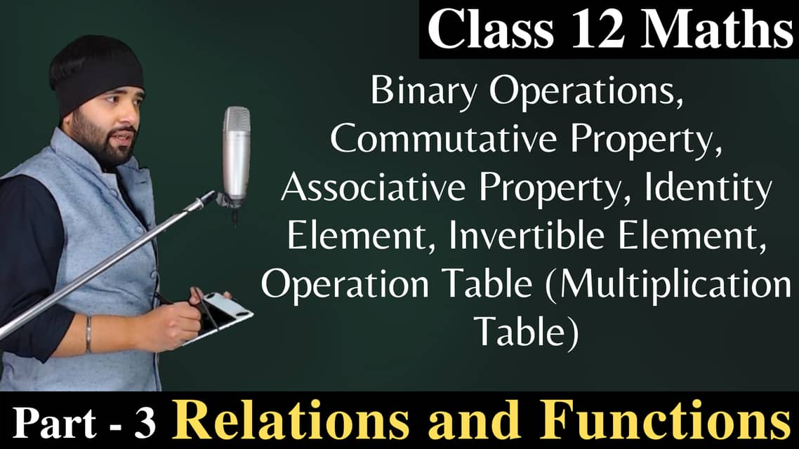 Relations and Functions Class 12 (Part – 3)