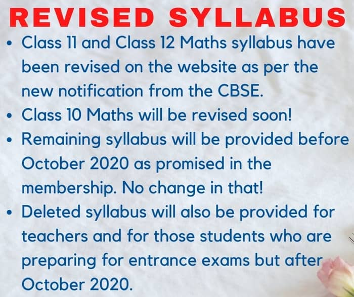 9th July revised syllabus update 700px