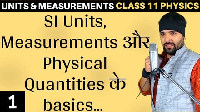 Chapter 2 Units and Measurement Lecture 1