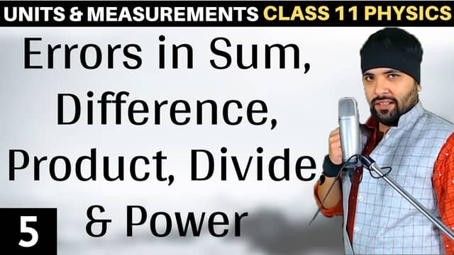Chapter 2 Units and Measurement Lecture 5