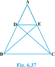 Class 10 triangles exercise 6.3 Question 6 figure