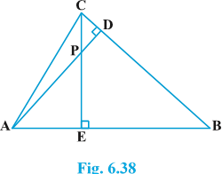 Class 10 triangles exercise 6.3 Question 7 figure