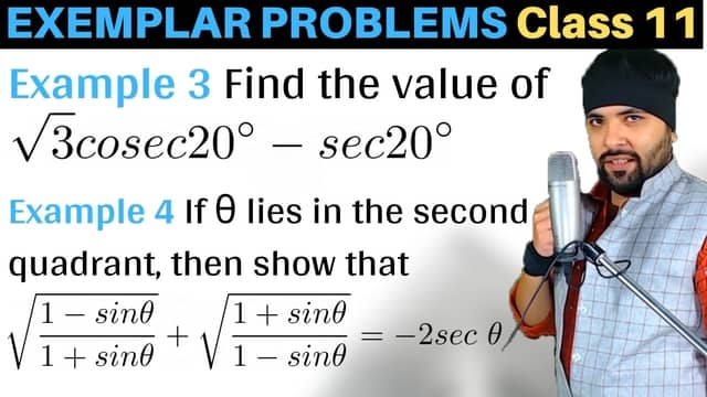Ex 3, 4 Trigonometric Functions Exemplar Problems Class 11 Maths